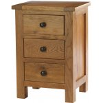Canterbury Solid Oak and Pine 3 drawer Bedside Table