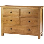 Auckland Solid Oak and Pine 4 Over 1 Chest of Drawers