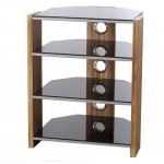 Hollyhurst 4 Shelf Walnut HiFi Stand