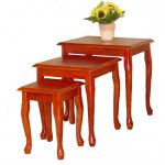 Robin Mahogany Nest of 3 Tables