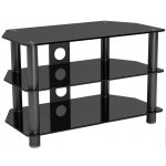 "LCD/LED/Plasma Black Glass 37"" TV Stand"