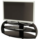Alphason Pebble Series Black TV Stand For Up To 50""