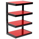 Norstone Esse 4 Shelf Hifi Stand in Red