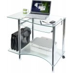 Teknik Clear Glass and Chrome Modern Workstation