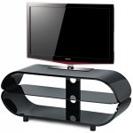 Stil Stand High Gloss Black Oval TV Stand