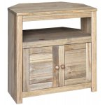 Hacienda Waxed Pine Corner TV Cabinet for up to 32""