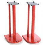 Pair of Speaker Stands in Red - Height 60cm