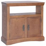 Paris Antique Oak Effect Corner TV Cabinet