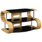 Jual Curve - Curved Oak and glass TV Stand for up to 37''