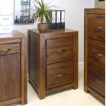 Baumhaus CWC07A Mayan Walnut Filing Cabinet
