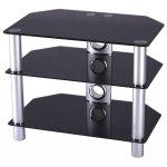 Stil-Stand STUK 1501 Black Glass TV Stand