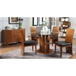 Jual JF601 Walnut Table, 4 Chairs & Sideboard