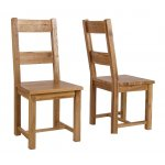 Westbury Reclaimed Oak Timber Dining Chair - Pair