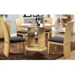 Jual JF603 Oak Dining Table & 4 Chairs