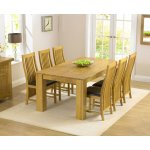 Tula Solid Hardwood Dining Set with 6 Chairs