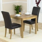 Mark Harris Promo/Atlanta Solid Oak & Black Dining Set with 2 Chairs