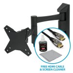 Cantilever TV Wall Bracket with FREE HDMI Cable & Screen Cleaner