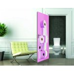 1Wall Pink Toilet Roll Door Mural