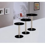 Tokyo Nest of 3 Black Glass Tables