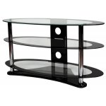 "ValuFurniture Clear Glass Oval TV Stand for up to 60"" TVs"