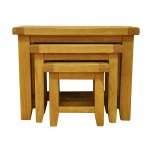 Ultimum Stamford STM-N3T Solid Oak Nest of 3 Tables