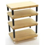 Atacama Evoque Eco Natural Bamboo Hifi Stand - 4 Tier