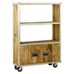 Baumhaus IRC01D Roadie Chic Oak Large Bookcase
