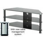 Large Glass Corner TV Stand - All Black
