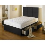 Luxan Serenity Black 2 Drawers with Headboard 3'0 Divan