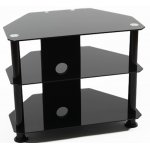 """Iconic Black Glass Universal TV Stand for TVs up to 32"""""""