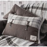 Campbell Toggle Cushion - Grey