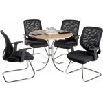 Teknik Nova Meeting Set - Beech Table - Black Chairs