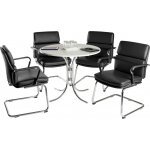 Teknik Deco Meeting Set - Black Chairs - White Table