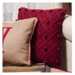 Gallery Bobble Cushion - Red