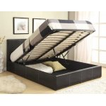 Luxan Ottoman Brown 5'0 King Bed with Mattress & 2 Pillows