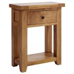 Rustic Grange Devon Oak 1 Drawer Console Table