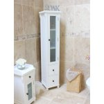 Hampton White Painted Tall Closed Bathroom Unit