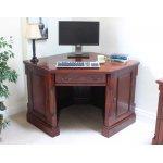 La Roque Mahogany Corner Desk