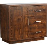 ValuFurniture Bali 1 Door 3 Drawer Small Sideboard - Mango Effect