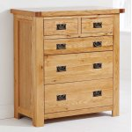 Ultimum Java Oak 2 Over 3 Chest of Drawers