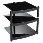 Equinox Black 3 Shelf R.S HiFi Stand