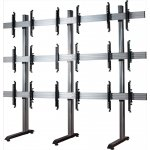 "B-Tech System X Video Wall Mount with MicroAdjust Arms - 3x3 For 46"" Screens"
