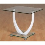 ValuFurniture Henley Clear Glass Lamp Table
