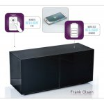 "Frank Olsen INTEL1100BLK Black TV Cabinet For TVs Up To 55"" FREE IPHONE CASE"