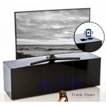"Frank Olsen INTEL1500BLK Black TV Cabinet For TVs Up To 70"" FREE IPHONE CASE"