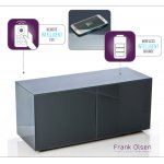 "Frank Olsen INTEL1100GY Grey TV Cabinet For TVs Up To 55"" FREE IPHONE CASE"
