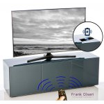 """Frank Olsen INTEL1500GY Grey TV Cabinet For TVs Up To 70"""" FREE IPHONE CASE"""