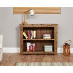 Baumhaus Heyford CRS01B Rough Sawn Oak Low Bookcase