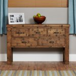 Baumhaus Heyford CRS02D Rough Sawn Oak Console Table