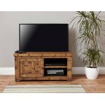 Baumhaus Heyford CRS09A Rough Sawn Oak One Door Television Cabinet
